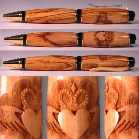 turning wooden pens